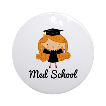 Cute Med School Graduate Ornament (Round)