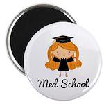 Cute Med School Graduate Magnet