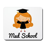 Cute Med School Graduate Mousepad