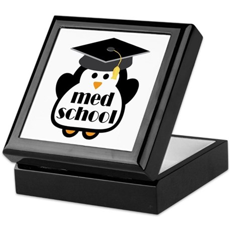 Med School penguin Keepsake Box