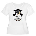 Med School penguin Women's Plus Size Scoop Neck T-
