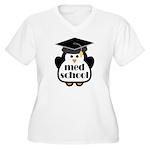Med School penguin Women's Plus Size V-Neck T-Shir
