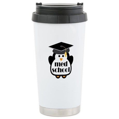 Med School penguin Stainless Steel Travel Mug