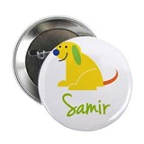 Samir Loves Puppies 2.25&quot; Button (10 pack)
