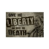Patrick Henry Quote - Liberty or Death Rectangle M