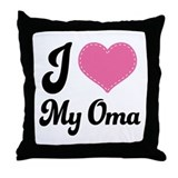 Cute I Love My Oma Throw Pillow