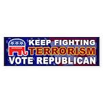 Keep Fighting Terrorism Vote Republican Sticker
