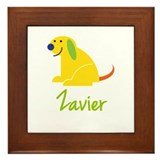 Zavier Loves Puppies Framed Tile