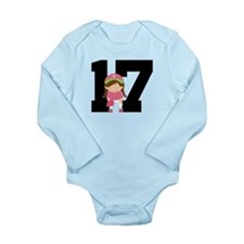 Softball Player Uniform Number 17 Long Sleeve Infa