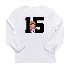 Softball Player Uniform Number 15 Long Sleeve Infa