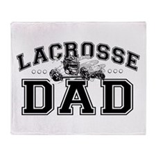 Lacrosse Dad Throw Blanket