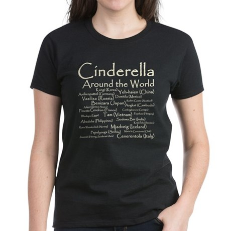 Cinderella Around the World Women's Dark T-Shirt