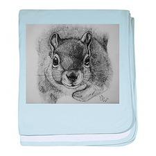 Squrrel Sketch baby blanket