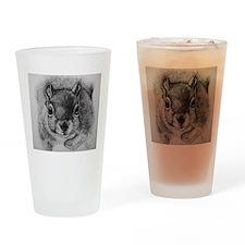 Squrrel Sketch Drinking Glass