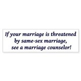 Cute  marriage Bumper Sticker