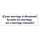 Unique Marriage Bumper Sticker