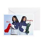 Nice vs. Naughty Holiday Greeting Cards (Pk of 10)