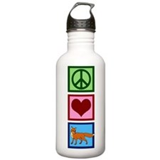 Peace Love Foxes Water Bottle