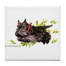 Great Leaping Scottie! Tile Coaster