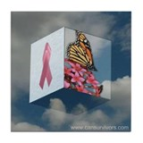 Pink Ribbon Tile Coaster