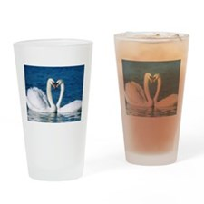 SWANS IN LOVE Drinking Glass