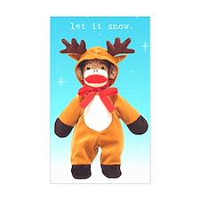 Reindeer Sock Monkey Rectangle Decal