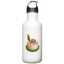 Squirrel on Cake Water Bottle