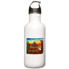 Southwestern Stained Glass Eagle Water Bottle