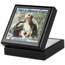 Vintage Navy Nurse Corps 1908 Keepsake Box