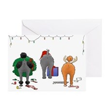 Poodle Christmas Greeting Cards (Pk of 10)