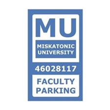 Miskatonic University Parking Pass (Faculty)