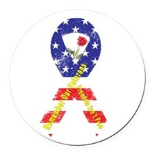 Remember Our Veterans Round Car Magnet