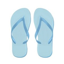 Light Blue Flip Flops