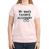 My Man's Fav. Accessory Women's Pink T-Shirt