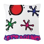 Lets Bounce Jacks Jax.png Woven Throw Pillow