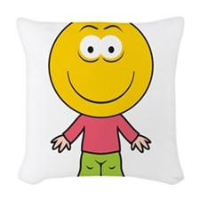 smiley52.png Woven Throw Pillow