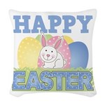 3-happy easter design.png Woven Throw Pillow