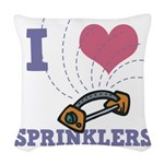 i heart sprinklers.png Woven Throw Pillow