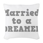 DREAMER.png Woven Throw Pillow