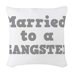GANGSTER.png Woven Throw Pillow
