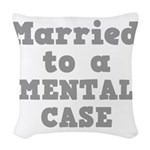 MENTAL CASE.png Woven Throw Pillow