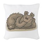 funny little bear copy.jpg Woven Throw Pillow