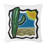cactus scene copy.jpg Woven Throw Pillow