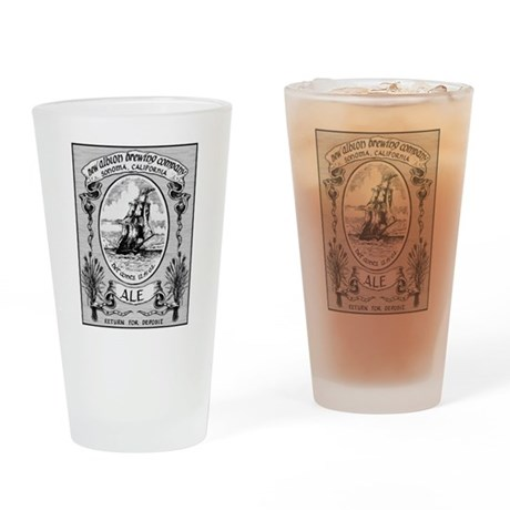 New Albion Brewing Company Swag Drinking Glass