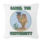 camel toe university copy.png Woven Throw Pillow