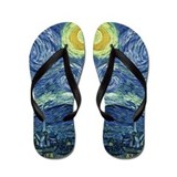 Starry Night by Van Gogh Flip Flops