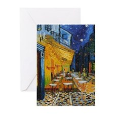 Cafe Terrace by Van Gogh Greeting Cards (Pk of 20)