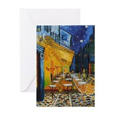 Cafe Terrace at Night by Van Gogh Greeting Card