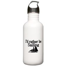 Id rather be sailing Water Bottle