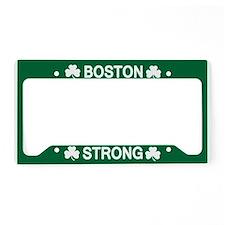 Boston Strong Shamrock License Plate Holder